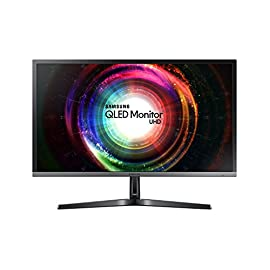 Samsung U28H750 Monitor 4K Ultra HD 28'', UHD, 3840 x 2160, Premium Quantum Dot, 1.07 Miliardi di Colori, 60 Hz, 1 ms, 2 HDMI, 1 Display Port, Base Semplice, Nero