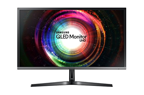 Samsung U28H750 Monitor 28'' 4K Ultra HD, 3840 x 2160, Quantum Dot, 1.07 Miliardi di Colori, 60 Hz, 1 ms, 2 HDMI, 1 Display Port, Base Semplice, Nero