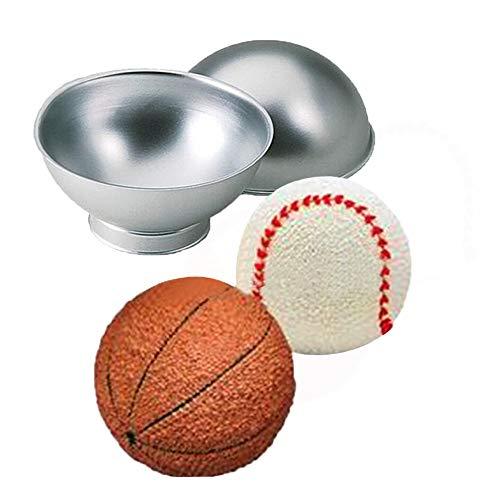 Prevently 3D Kugel Kuchenform Sport Ball Tennis Basketball Geburtstags Kuchen Wanne-Zinn Form für Muffins, Cupcakes, Kuchen, Pudding, Eiswürfel und GeleeBrote -