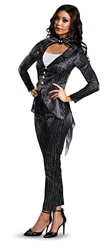 Disguise Women's Jack Skellington Deluxe Fancy Dress Kostüm - Für Erwachsenen Jack Skellington Kostüm