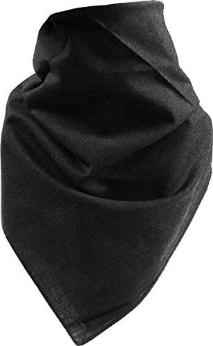 Harrys-Collection Bandana Bindetuch 100% Baumwolle (1 er 6 er oder 12 er Pack), Farbe:uni schwarz