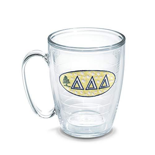 Tervis Delta Delta Delta Fraternity Mug, 16 oz, Clear -