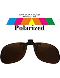 Spectacles Clip On Brown Lens Polarized Sunglasses 1521