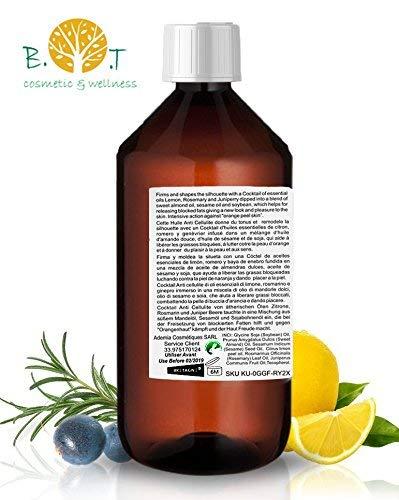 41UZeeWM3jL - Aceite Anti Celulitis 250 ml Con Aceites Esenciales Triple acción: drenante, quema grasa y reafirmante. Penetra 6 veces mejor que una crema anti celulitis