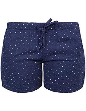 Vivente Vivo - Pantaloncini da pigiama da donna, in cotone, motivo a pois
