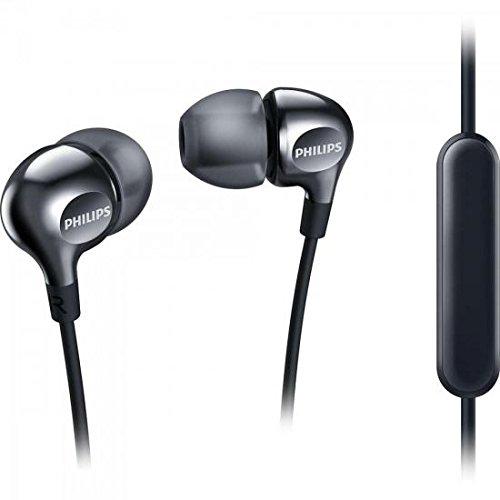 Philips she3705bk auricolari in-ear con microfono incorporato, nero
