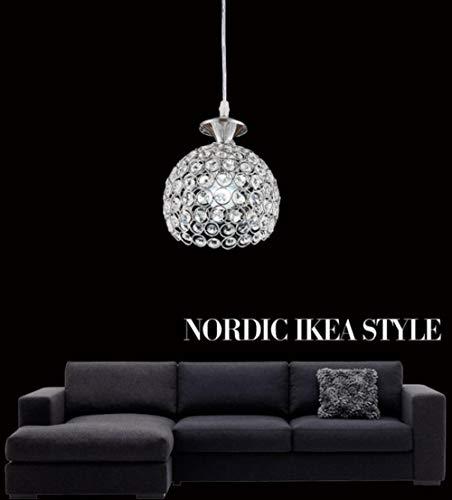Moderne kleine Kristall-Kronleuchter runden LED-Lampen Wohnzimmer LED-Beleuchtung Kronleuchter E27 Glanz LED-Licht-Anhänger/drop, Silber -
