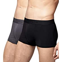 DAMENSCH Men's Micro Modal Trunk (Pack of 2) - Blayze Grey, Wayn Black- (100% Refund if NOT satisfied)