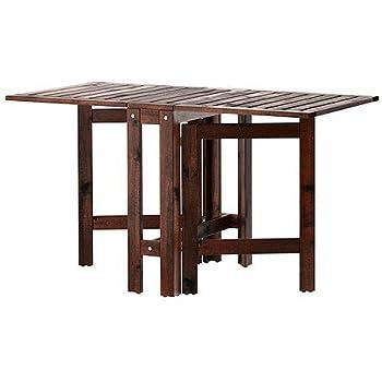 Ikea Wetterfester Holz Klapptisch Applaro Gartentisch Aus Massivem