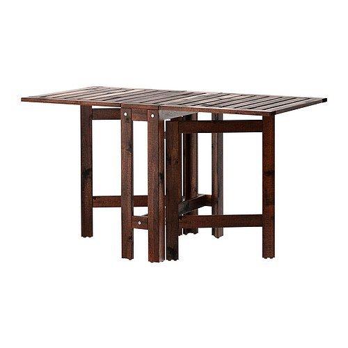 "IKEA wetterfester Holz-Klapptisch \""Äpplarö\"" Gartentisch aus massivem Akazienholz - 20/77/133x62cm"