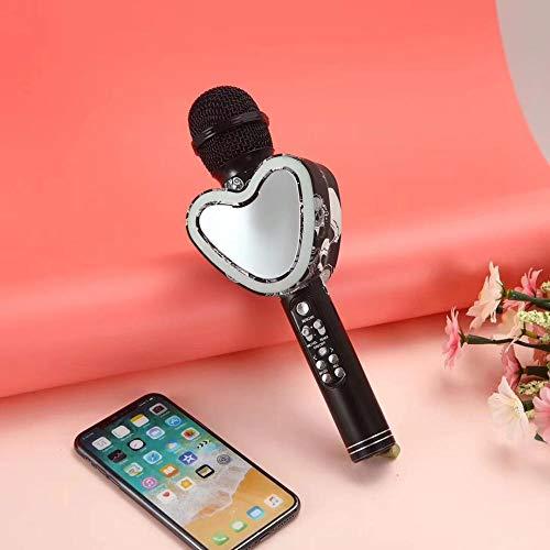 Microfono Karaoke wireless, Microfono Bluetooth, Karaoke machine per bambini, Portatile, Handheldable, Per bambini, Famiglia KTV, Party, Canta e registrazione all'aperto, compatibile Android/ios.