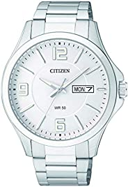 CITIZEN Men's Quartz Watch, Analog Display and Stainless Steel Strap BF2001