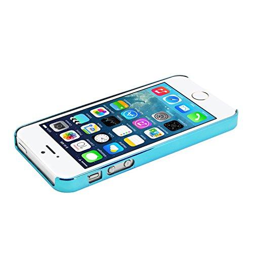 iProtect Schutzhülle Apple iPhone 5, 5s, SE Hülle Walking Dog Edition transparent pink Blau Spiegel