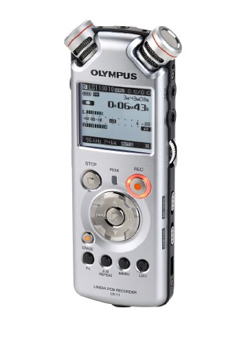 Get Olympus LS-11 Linear PCM Recorder – Digital voice recorder + Remote Control – flash 8 GB – WMA, MP3 – silver Review