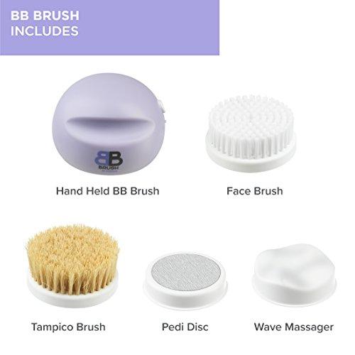 BB Brush, 4 in 1 Handheld Home Spa, Exfoliation, Cleansing, Massaging, Pedicure, Pedi Disc, Tampico, Dry Brushing (As Seen on High Street TV) (BB Brush)