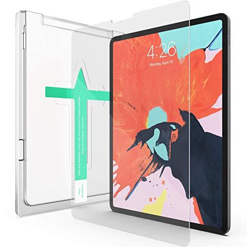 XeloTech Schutzglas kompatibel mit iPad Pro 11 Zoll - Mit Schablone für Positionierung - Für iPad-Modelle A1980, A2013, A1934