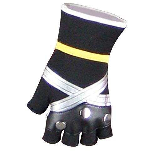 Chong Seng CHIUS Cosplay Costume Accessory Black Silver Gloves For Sora V1