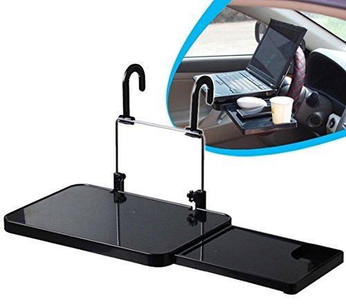 Mufly Auto Multifunktionstisch Lenkrad Tisch Laptop Schreibtisch für Lenkrad Beifahrersitz Schwarz
