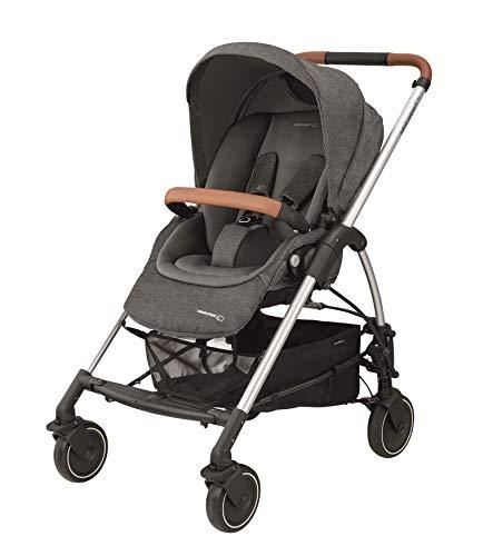 Bébé Confort MYA - Cochecito urbano 3 en 1, diseño compacto, sistema plegable, para bebes de 0 meses hasta 3,5 años, color Sparkling Grey