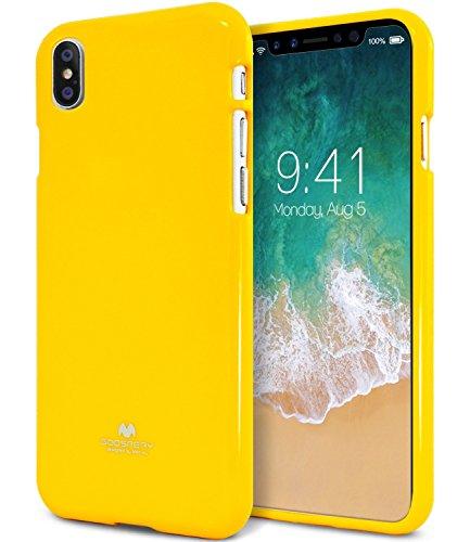 iPhone X Hülle ,GOOSfürY® [Thin Slim] GOOSfürY [Flexible] Pearl Glitter Jelly [fürfect Fit] Rubber TPU Case [Lightweight] Bumfür Cover [Impact Resistant] für Apple iPhone X arancione