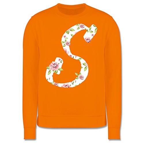 Anfangsbuchstaben - S Rosen - Herren Premium Pullover Orange