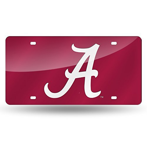 Alabama License Plate Tag in Red by Rico Industries