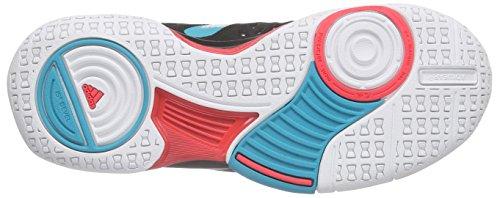 adidas Court Stabil 12, Chaussures de Volleyball Femme Noir - Schwarz (Core Black/Ftwr White/Shock Green S16)
