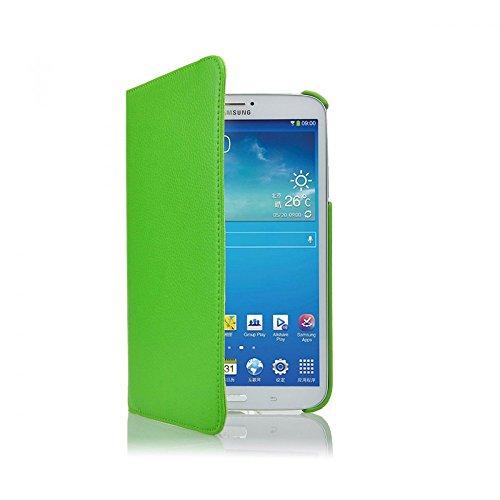 COOVY® Cover für Samsung Galaxy TAB 3 8.0 SM-T3100 SM-T3110 SM-T3150 SM-T310 SM-T311 SM-T315 ROTATION 360° SMART HÜLLE TASCHE ETUI CASE SCHUTZ STÄNDER | Farbe grün