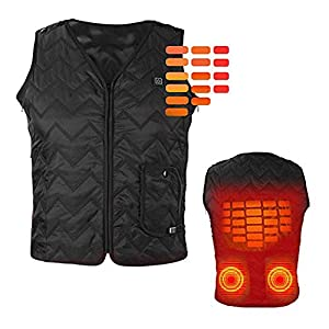 41UZk24Ox2L. SS300  - OUTANY USB Rechargeable Electric Body Warm Vest, Freely Adjustable 4 Sizes, Heated Clothing, Adjustable Temperature, Washable