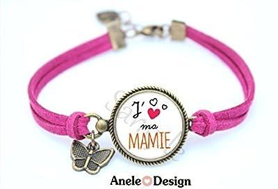 Bracelet Cadeau J'aime ma MAMIE