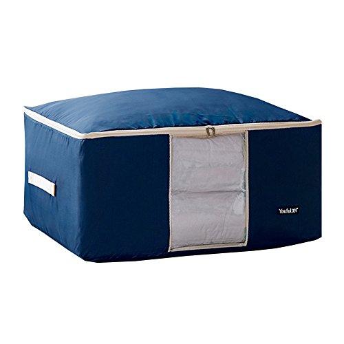 Tonpot Oxford Stoff Aufbewahrungstasche für Bettwäsche Organisator Haus bewegen Tasche Lagerbehälter Bettdecken Matratzenschonern Steppdecke Decke Kissen Kleidung Dunkelblau ( 55×35×20CM )