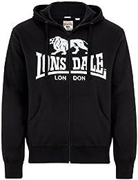 Lonsdale Herren Sweatshirt Sweatshirt Slim Fit Hooded Zip Krafty