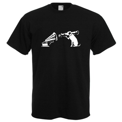 banksy-his-masters-voice-dog-with-bazooka-mens-black-t-shirt-xl