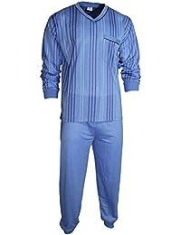 Herren Schlafanzug Pyjama Zweiteiler lang 2-tlg mit V-Ausschnitt Nr. 4671