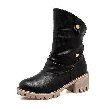 RTRY Scarpe da donna in similpelle Inverno Primavera Cowboy / Western Stivali Stivali moda stivali Chunky tallone punta tonda Babbucce/Stivaletti Polka Dot per US9.5-10 / EU41 / UK7.5-8 / CN42