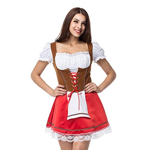 Designer Von Kostüm - Innerternet Midi Dirndl Set Bandage Bayerischen Kostüme Trachtenkleid Kurzarm Dirndlbluse für Oktoberfest Exklusives Designer Trachtenmoden für Bierfest Trachtenkarneval Bayerisches Oktoberfest