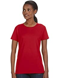 Anvil 780L Ladies Ringspun Midweight Mid-Scoop T-Shirt - Red - 'L by Anvil