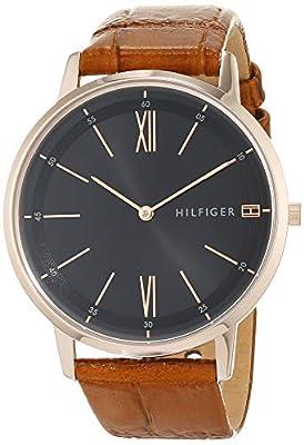 Tommy Hilfiger Reloj Analógico para Hombre de Cuarzo con Correa en Cuero 1791516