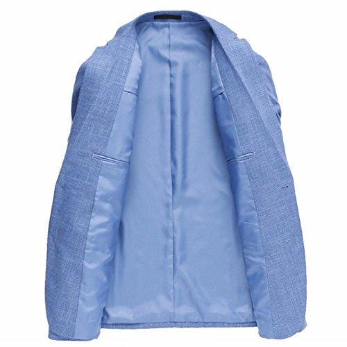 Xsiapas La Moda Maschile Misura Sottile Due Bottoni Casual Blazers Vestono Il Cappotto Di Sport Blu