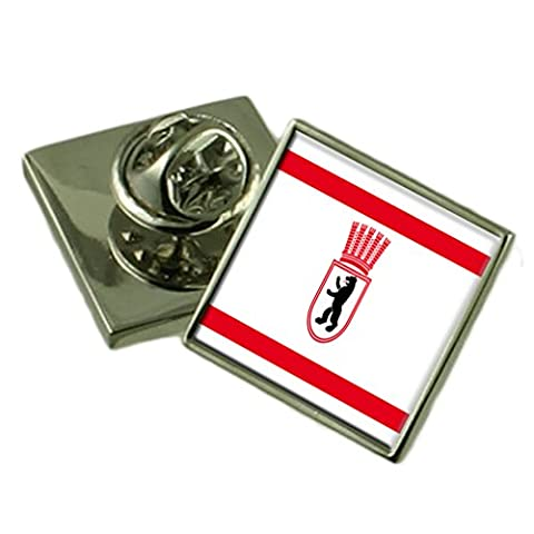 East Berlin City Germany Flag Lapel Pin Badge Pouch