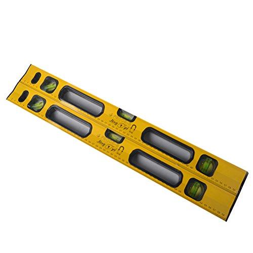 UEETEK 24-Zoll-Klassik-Magnet-Box-Level Torpedo Level Plumb / Level / 45-Grad-Messung Schock-resistenter Wasserwaage mit imperialen und metrischen Skalen (gelb)