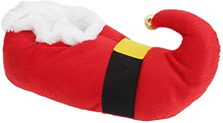 Unisex Navidad Papa Noel Campana DETALLE Pantuflas -