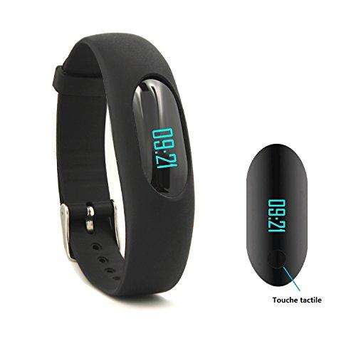 Willful Podomètre Bracelet Tracker d'activité (Simple, Pas de Bluetooth, Pas d'Applis,Pas de téléphone) avec Compteur de Pas, Compteur de Calories, Calculateur de Distance, Moniteur de Sommeil,Charge ...