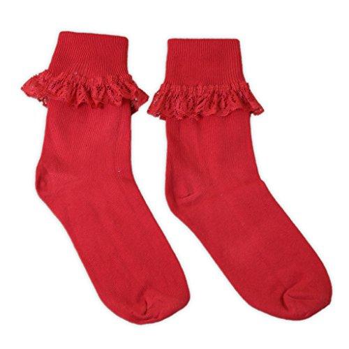 1 Paar niedliche Socken mit Rüschen für Mädchen und Frauen in verschiedenen Farben und Größen erhältlich