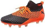 Puma Future 2.2 Netfit FG/AG, Chaussures de Football Homme, Noir Black-Shocking Orange 02, 45 EU