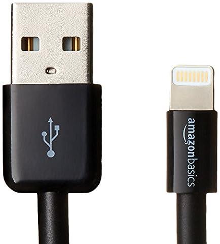 AmazonBasics Ladekabel Lightning auf USB, 1,8m, zertifiziert von Apple, 2