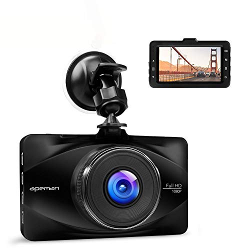 """apeman In Car Dash Cam 1080P FHD Camera Metal DVR Digital Driving Video Recorder for Cars 3"""" LCD Screen 170°Wide Angle 6G Lens with WDR ,Loop Recording ,G-sensor, Parking Monitor and Motion Detection"""