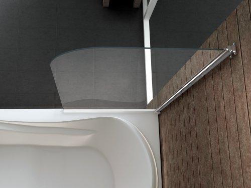 Duschtrennwand Rono 80×140 cm (Badewannenaufsatz) - 2