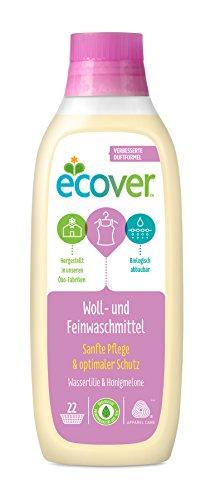 Ecover Ökologisches Woll- und Feinwaschmittel Wasserlilie & Honigmelone, 2er Pack (2 x 1 l)