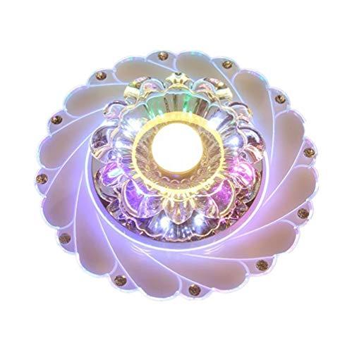 ZUEN Moderner Kristallchandelier, Chrome Crystal Ceiling Light Flush Mount Aisle/Corridor/Porch Light Colorful Ceiling Lampe,Warmlight - Crystal Ceiling Mount
